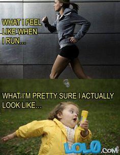 LOL what i feel like when i run funny photo