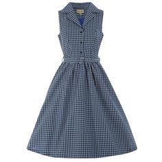 Matilda' Blue Check Shirt Dress