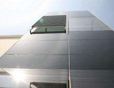 BISEM PV Curtain Wall - glass skin pop out window