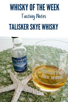 Review and tasting notes for the Talisker Skye Single Malt whisky Scottish Islands, Single Malt Whisky, Water Bottle, Notes, Drinks, Drinking, Report Cards, Beverages, Water Bottles