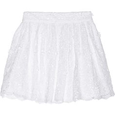 Alice + Olivia Gilberto cotton-lace skirt ($140) ❤ liked on Polyvore