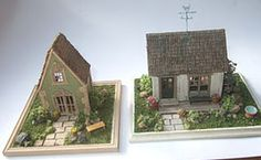 Elizabeth Yankowski's finished Guild School project on the right, and the new cottage in landscaped garden on the left.