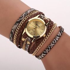 1.21$  Watch more here - Relojes Mujer 2017 Leather Braided Wrap Bracelet Watches Women's Fashion Leopard Strap Quartz Wrist Watch Clock Relogio Feminino   #buyininternet