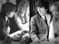George Harrison and Pattie Boyd 1964 a hard days night