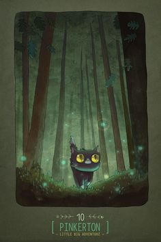 """I love print #129 of """"Night"""" from Pinkerton Little Big Adventure by Alena Tkach on @NeonMob - Check it out!"""