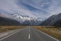 Camping Roadtrip Neuseeland Fahrt zum Mt Cook Nationalpark