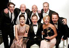 Breaking Bad cast :D Won best drama series