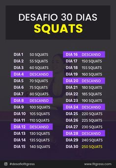 """Desafio """"30 Dias de Squats"""" Get Skinny, Play Hard, Physical Activities, 30 Day, Sport, Personal Trainer, Squats, Physics, Healthy Lifestyle"""