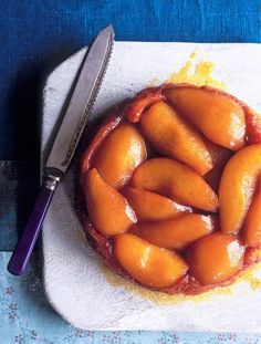 Pear tart tatin | Jamie Oliver | Food | Jamie Oliver (UK) Love pears & like the idea of a Pear Tart Tatin