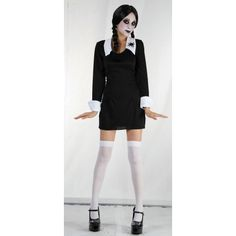 Kostým Wednesday z Addams Family