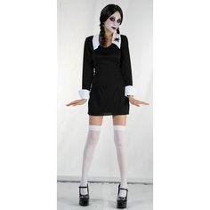 Kostým Wednesday z Addams Family