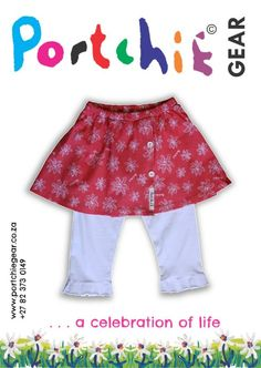 Girls mock wrap skort by #portchiegear - www.portchiegear.co.za