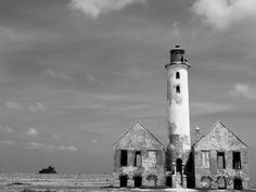 Klein Curacao lighthouse in the Caribbean (Dutch Antilles, Abandoned)