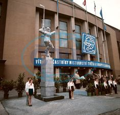 Praha - Zimní hala PKOJF socha Socha, Broadway Shows, Street View