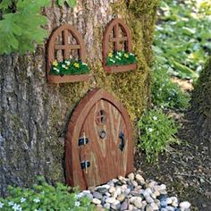 I just want to sneak a door onto one of the front trees.. All neighbor kids play in our yard...