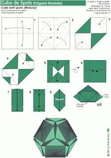 O QUE É MEU É NOSSO: Origami Modular - Cubo de Spots - Spots Cube - Rita Foelker