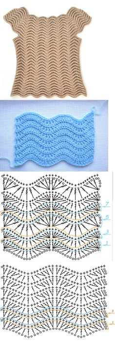 Wavy Crochet Diagram