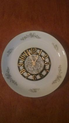 Whispering White Floral Dinner Plate Size Wall Clock in Home & Garden, Home Décor, Clocks   eBay