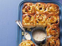 Apfelschneckenkuchen mit Vanillesauce - smarter - Kalorien: 231 Kcal - Zeit: 45 Min.   eatsmarter.de