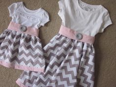 Custom made big sister and little sister dresses