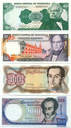 reciclandoenelatico.com  El verdadero Bolivar Fuerte. #Venezuela #SOSVenezuela Billetes que no volveran :'(