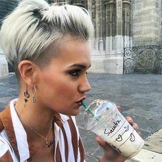 50 Best Pixie Hairstyle Ideas For Short Hair 2019 -  #Hair #Hairstyles #hairstyleshairstyles #pixiehair #shorthair #shorthaircut #shorthairstyles - Short Hairstyles - Hairstyles 2019 Short Hairstyles For Thick Hair, Cute Short Haircuts, Pixie Hairstyles, Hairstyles With Bangs, Short Hair Cuts, Curly Hair Styles, Cool Hairstyles, Hairstyle Ideas, Short Hair With Undercut