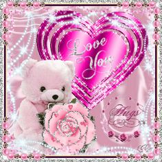 free angel teddy bear animation | For those people, who find it hard to say, I love you.