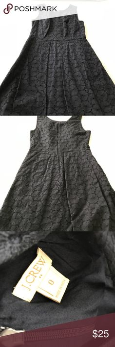 Jcrew lace dress This jcrew navy blue lace dress is the perfect midi/knee length dress with a high neckline and a conservatively low back. J. Crew Dresses Midi