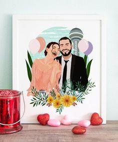 Wedding Illustration, Couple Illustration, Portrait Illustration, Digital Illustration, Romantic Gifts For Him, Diy Gifts For Him, Vector Portrait, Digital Portrait, Web Design