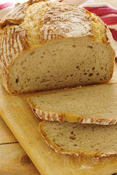 Cinco Quartos de Laranja: Vamos fazer pão: Pão de mistura com fermentação longa Yeast Bread, Sourdough Bread, Bread Baking, Best Bread Recipe, Bread Recipes, Baking Recipes, Tasty, Yummy Food, Portuguese Recipes