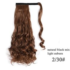Ponytail Hair Extensions, Wrap-around - 2-30 / 24inches