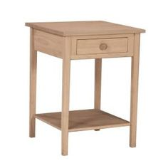 International Concepts 21 in. Unfinished Square Tall Accent Table-OT-91 at The Home Depot