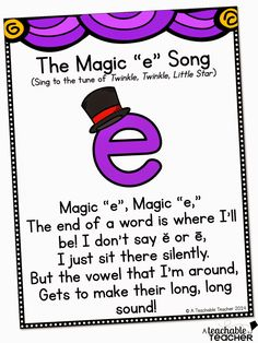 A cute song for teaching CVCE with Magic E! $