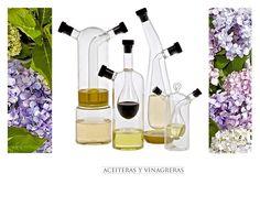 Son muchas las propuestas para aceiteras y vinagreras en el mundo del diseño, y en basic HOME encontraréis unas cuantas, sin duda.
