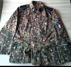 M44 field jacket camouflage. 33 Waffen-Grenadier-Division der SS ,,Charlemagne''