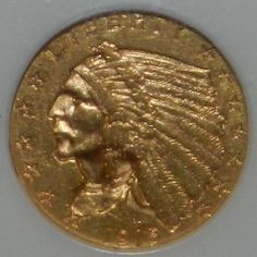 1915 2.5 Indian Head Gold Coin    NGC MS61 $450.00 + $10.50 Shipping