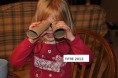 "#Camping Cardboard Tube ""Binoculars"" for Young #Kids"