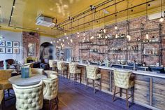 The Old Blind School, Liverpool, Gasto pub, bar, yellow leather, back bar feature