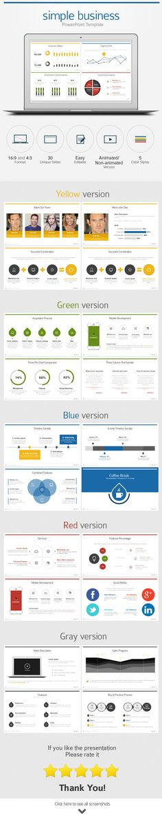 Flat Business PowerPoint Template — Powerpoint PPTX #presentation #simple • Available here → https://graphicriver.net/item/flat-business-powerpoint-template/9069851?ref=pxcr