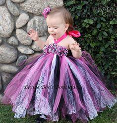 birthday princess outfit 12months | Tutu Dress, Birthday Tutu Dress Zebra Hot Pink and Black Vintage Style ...