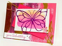 Kreativwerkstatt Karin Müller, Stampin' Up!, Schmetterling auf Hochglanz, Gemalt mit Liebe