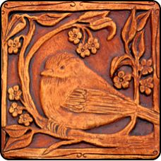 artisan tile, bird motif 回 Tile o Phile 回 barbara clark Azulejos Art Nouveau, Art Nouveau Tiles, Ceramic Pottery, Pottery Art, Ceramic Art, Slab Pottery, Art Deco, Craftsman Tile, Clay Tiles