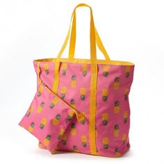 Pineapple tote! Too cute!