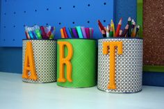 12 creative and unusual diy pencil holder ideas for your home office Mejunje Art Attack, Cool Diy, Easy Diy, Dyi, Creative Closets, Pots, Pot A Crayon, Diy And Crafts, Recycled Crafts