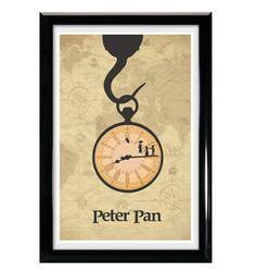Peter Pan 11x17 Movie Poster  Peter Pan Poster by CaptainsPrintCo, $20.00