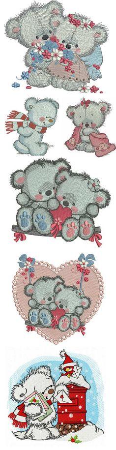 Polar bear embroidery collection.