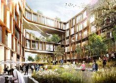 Arkitema arquitectos seleccionados para diseñar nuevas oficinas para la Agencia del Gobierno de Dinamarca