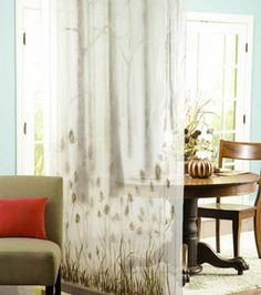 Paint sheer drapery fabric for beautiful room decor or divider! #joann