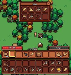 "brady welch on Twitter: ""Container panel rework… "" How To Pixel Art, Sprites, Game Textures, 8 Bit Art, Game Ui Design, Pixel Art Games, Indie Games, League Of Legends, Pokemon"