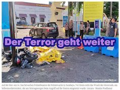 Der Terror geht weiter Surabaya, Antara, Poster, Home Appliances, Monday Morning, Human Settlement, Indonesia, Police, House Appliances